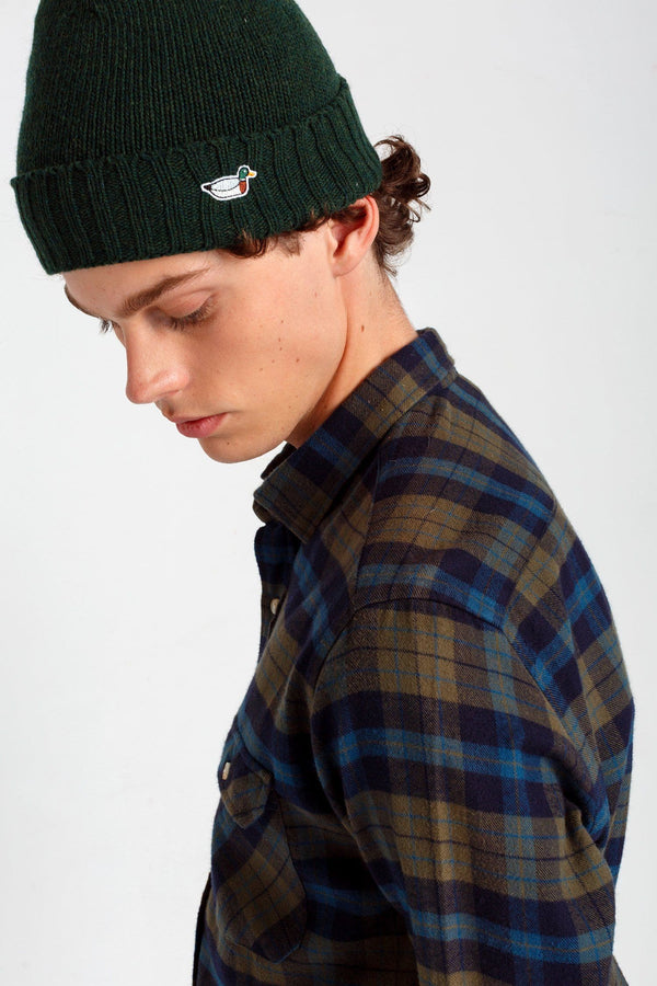 Forest Green Duck Fisherman Beanie