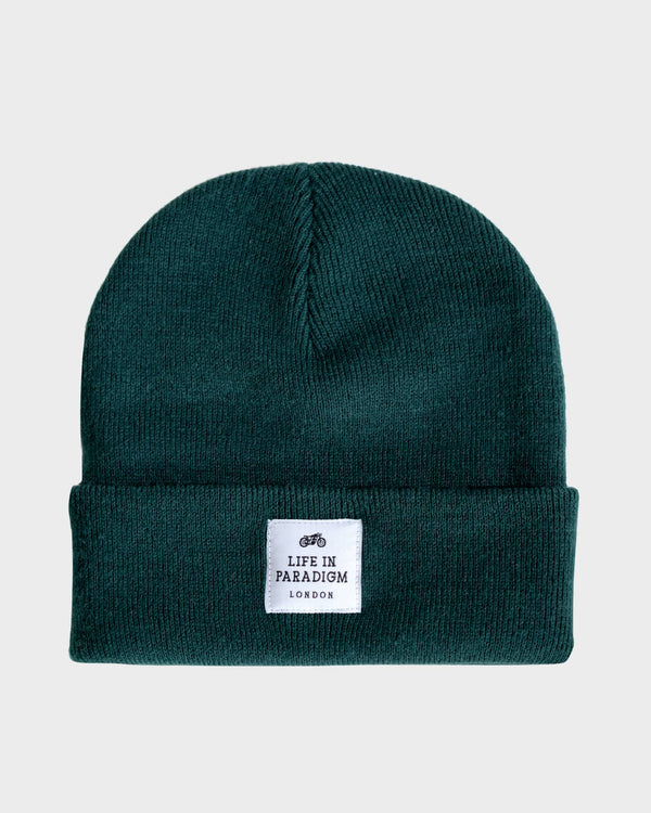 Forest Green Islington Beanie - Life in Paradigm Menswear London