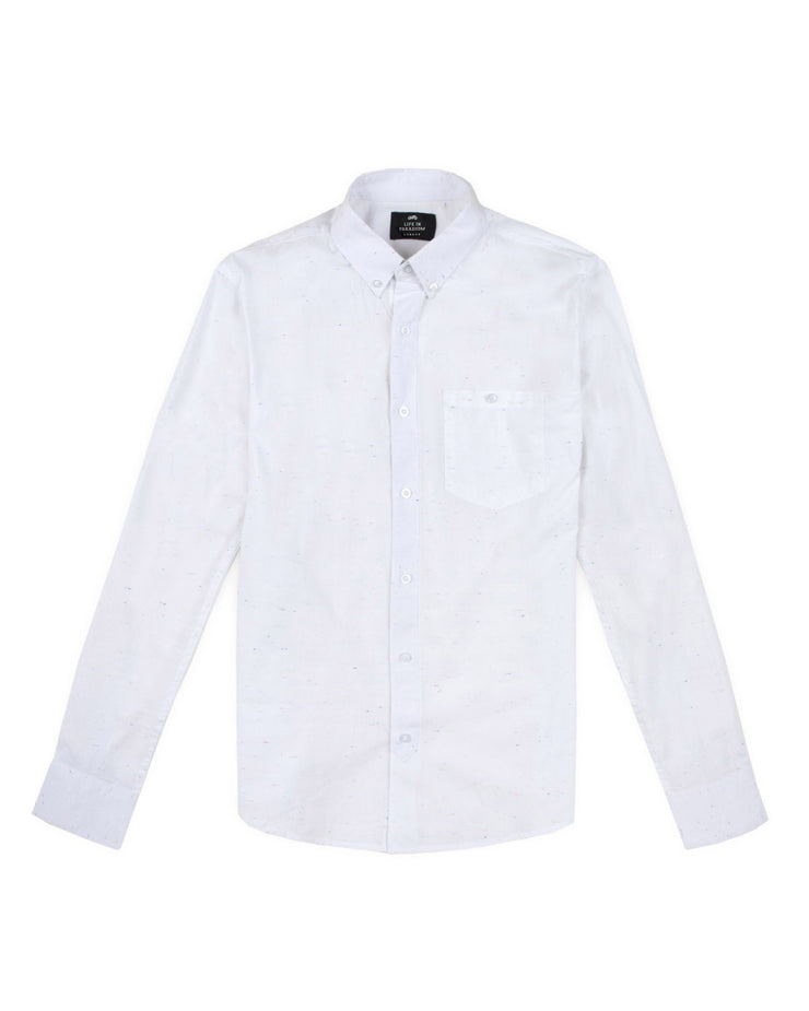 White speckled oxford shirt