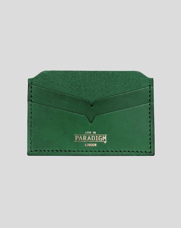 Brooke Green Leather Cardholder - Life in Paradigm Menswear London