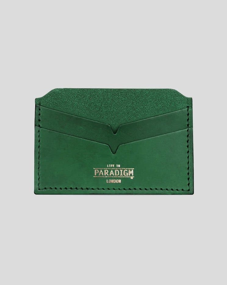 Brooke Green Leather Cardholder - Life In Paradigm