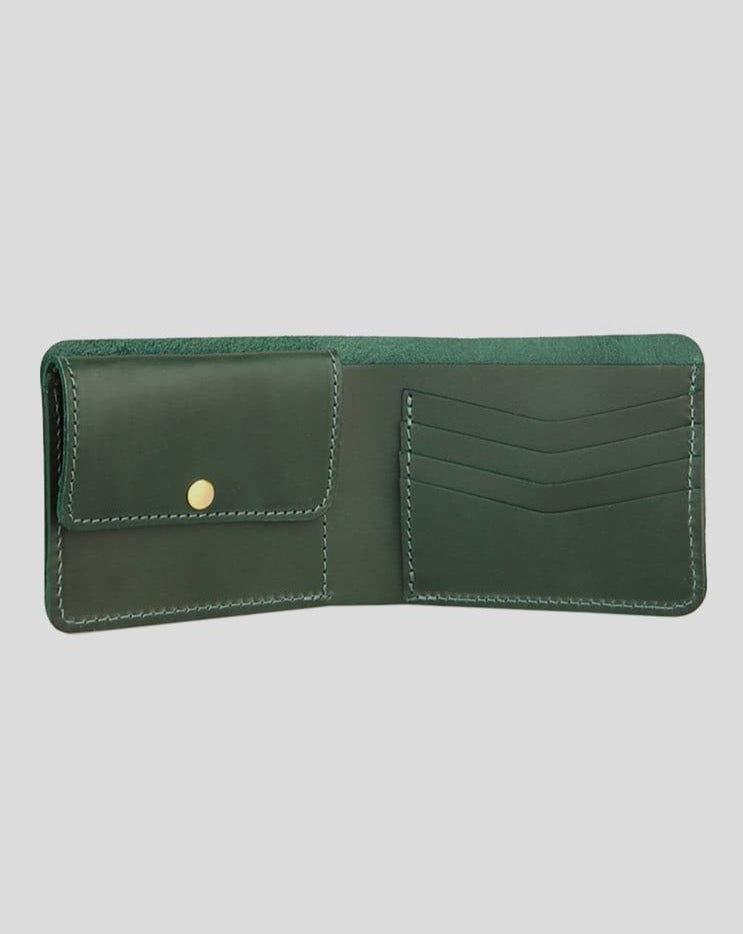 Green Leather Wallet - Life in Paradigm Menswear London