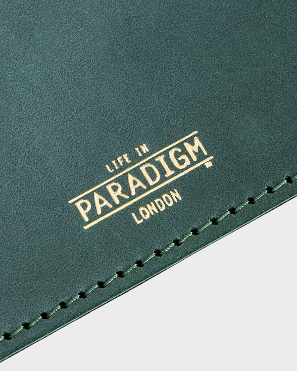 Rectory Green Leather Folding Cardholder - Life in Paradigm Menswear London