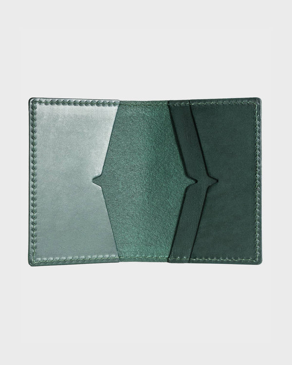 Rectory Green Leather Folding Card Holder - Life in Paradigm Menswear London