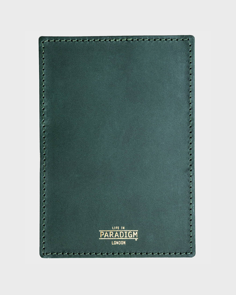Rectory Green Leather Folding Cardholder