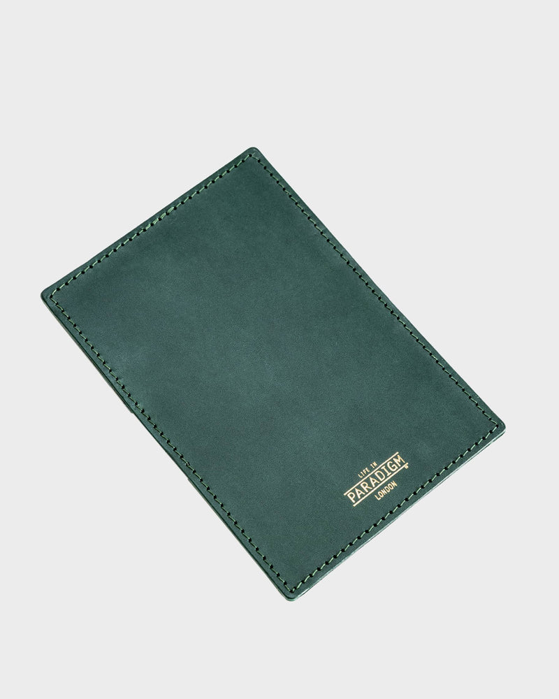 Rectory Green Leather Folding Cardholder - Life In Paradigm