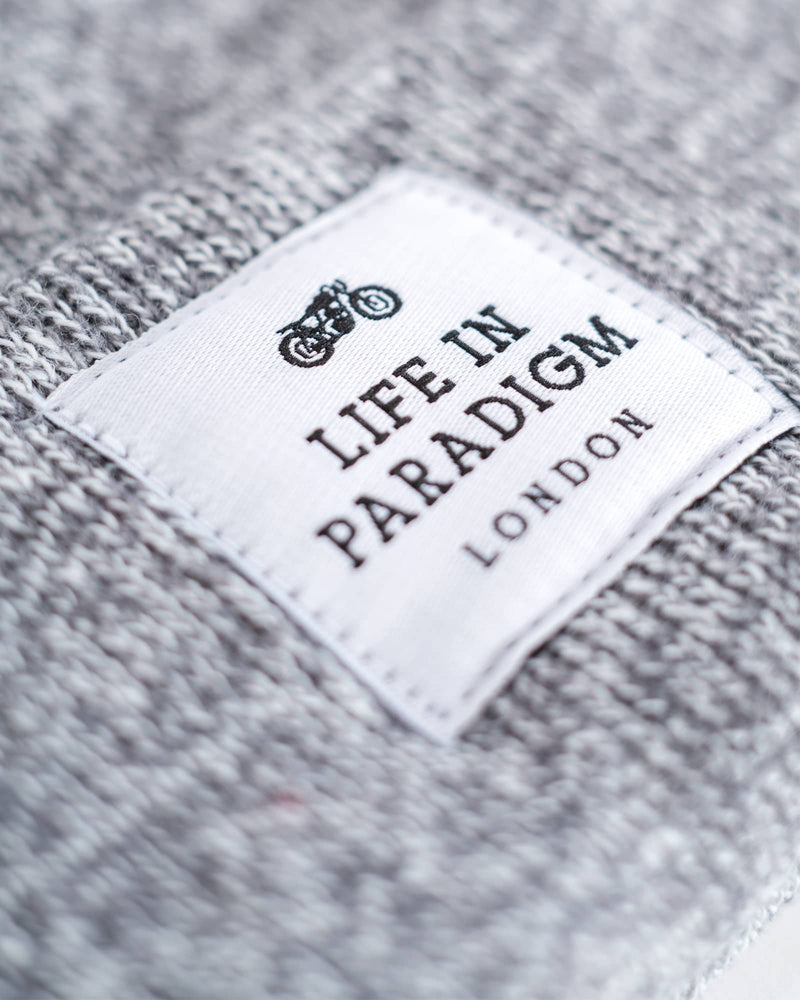 Grey Islington Beanie - Life in Paradigm Menswear London