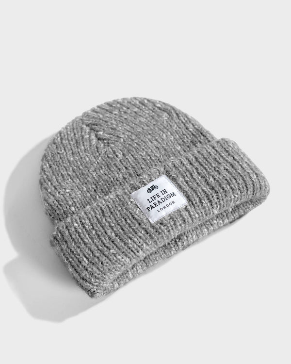 Grey Heather Scandinavian Beanie - Life in Paradigm Menswear London