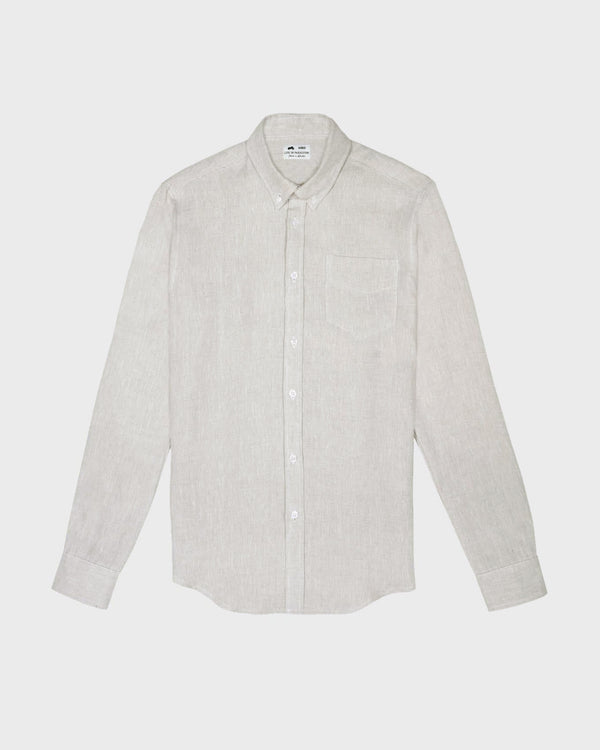 Grey Irish Linen Shirt - Life in Paradigm Menswear London