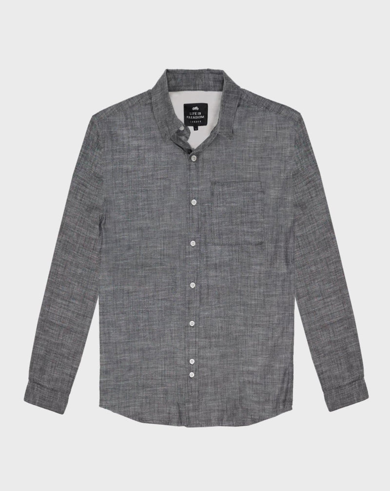 Grey Oxford Shirt - Life in Paradigm Menswear London