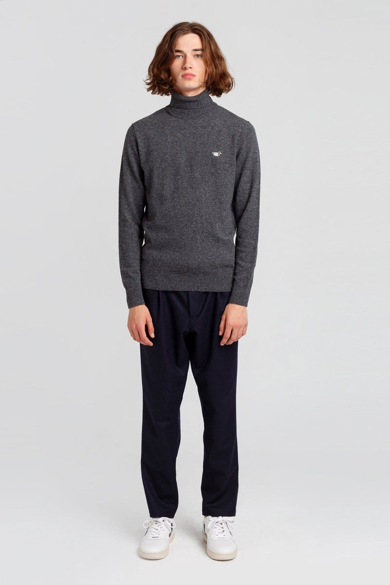 Grey Turtle Neck Duck Jumper - Edmmond Studios