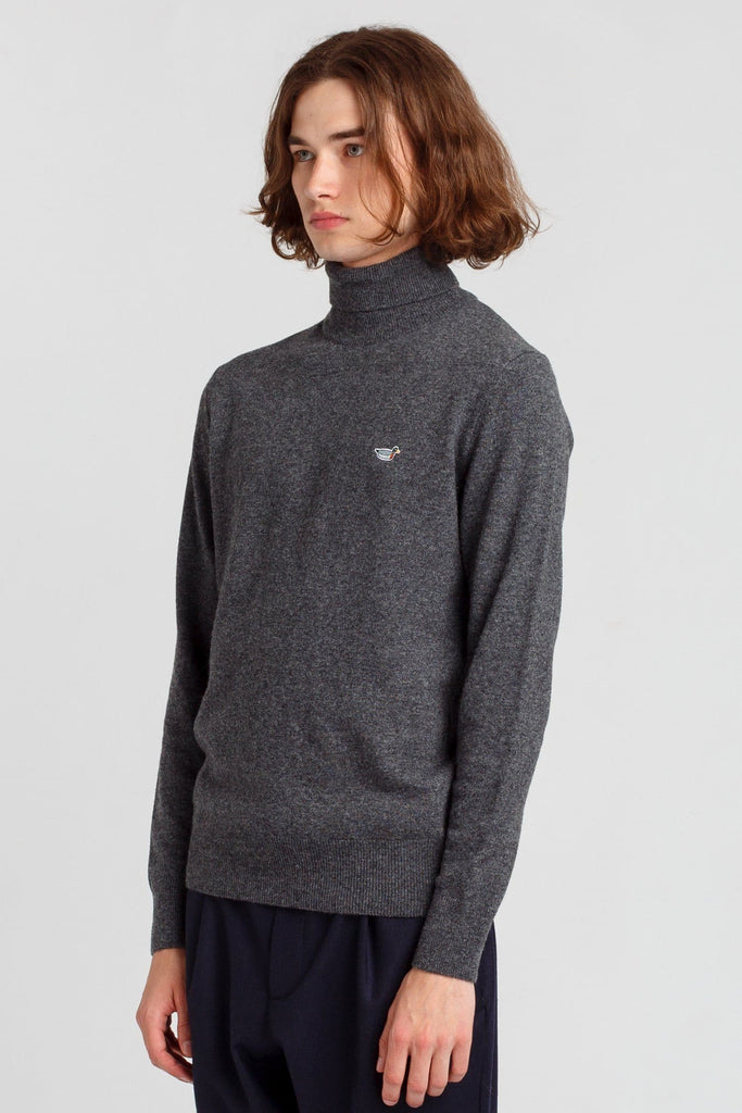 Grey Turtle Neck Duck Jumper - Life in Paradigm