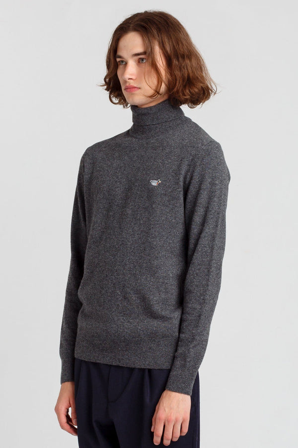 Grey Turtle Neck Duck Jumper