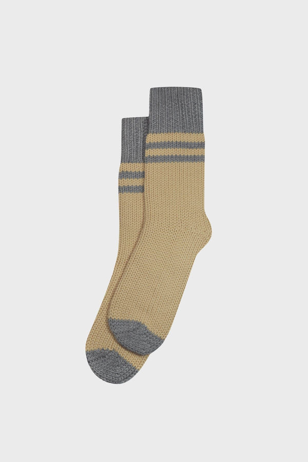 Grey and Cream Cabin Socks - Komodo