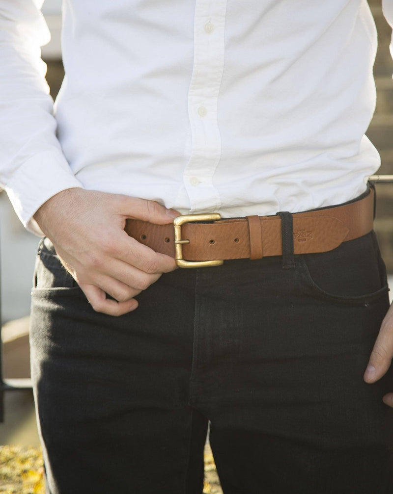 Stokey Brown Leather Belts - Life In Paradigm