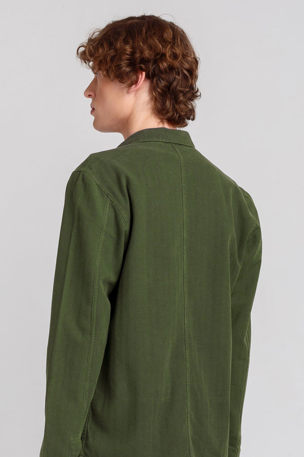 Khaki Green Twill Shirt - Life in Paradigm Menswear London