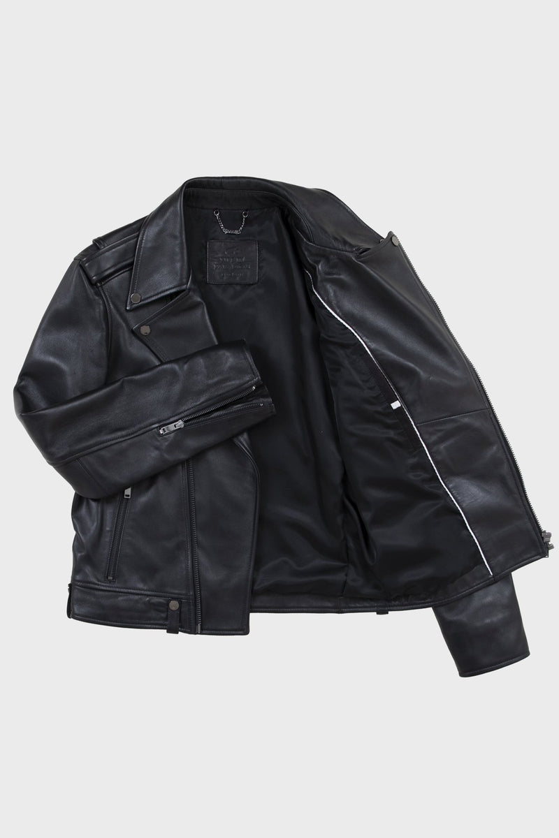 Leather Biker Jacket - Life In Paradigm