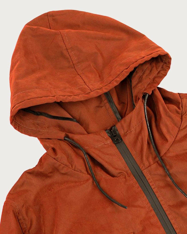 Orange Light Weight Parka - Life In Paradigm