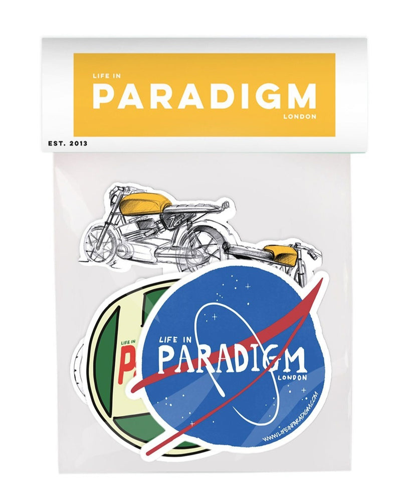Life In Paradigm - 3 pack Stickers - Wild Ones - Life in Paradigm Menswear London