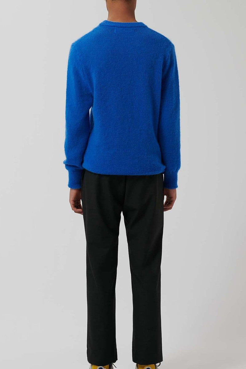Blue Knitted Merino Wool Jumper - Loreak