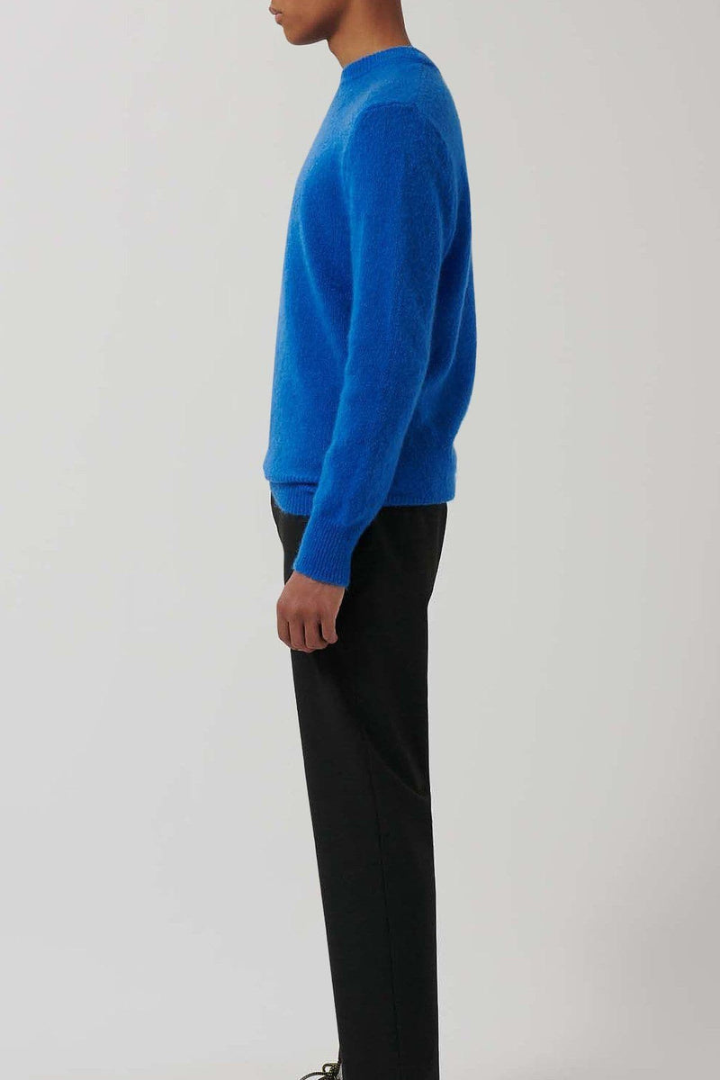 classic Blue Knitted Merino Wool Jumper - Life in Paradigm