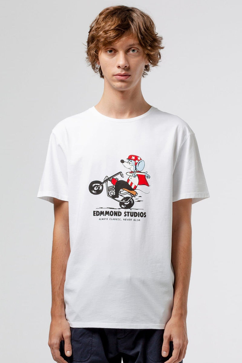 Evil Knievel the mighty mouse t-shirt - Life in Paradigm Menswear London