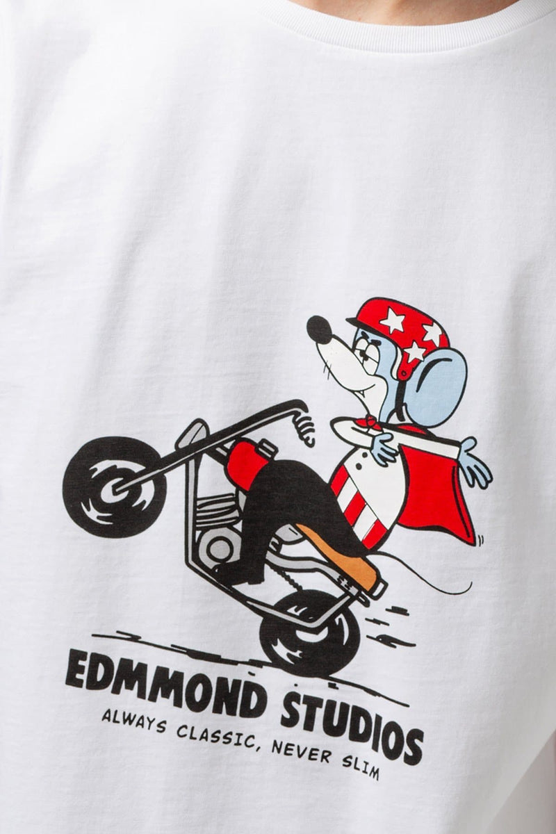 Evil Knievel the mighty mouse t-shirt - Edmmond Studios