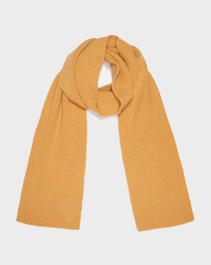 Mustard Highland Wool Scarf - Life in Paradigm Menswear London