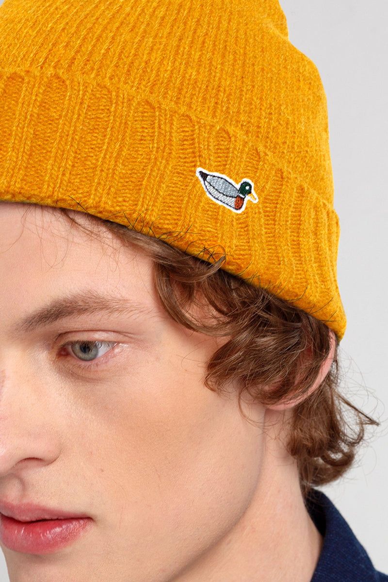 Mustard Duck Fisherman Beanie