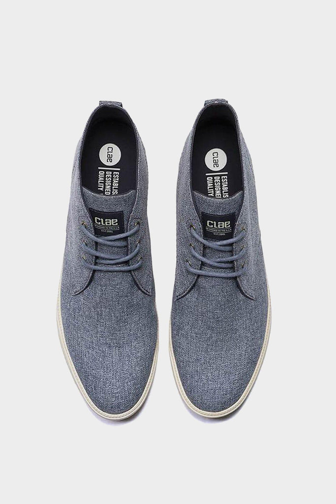 Navy Chambray Canvas Hemp Strayhorn Textile Shoes - Life in Paradigm