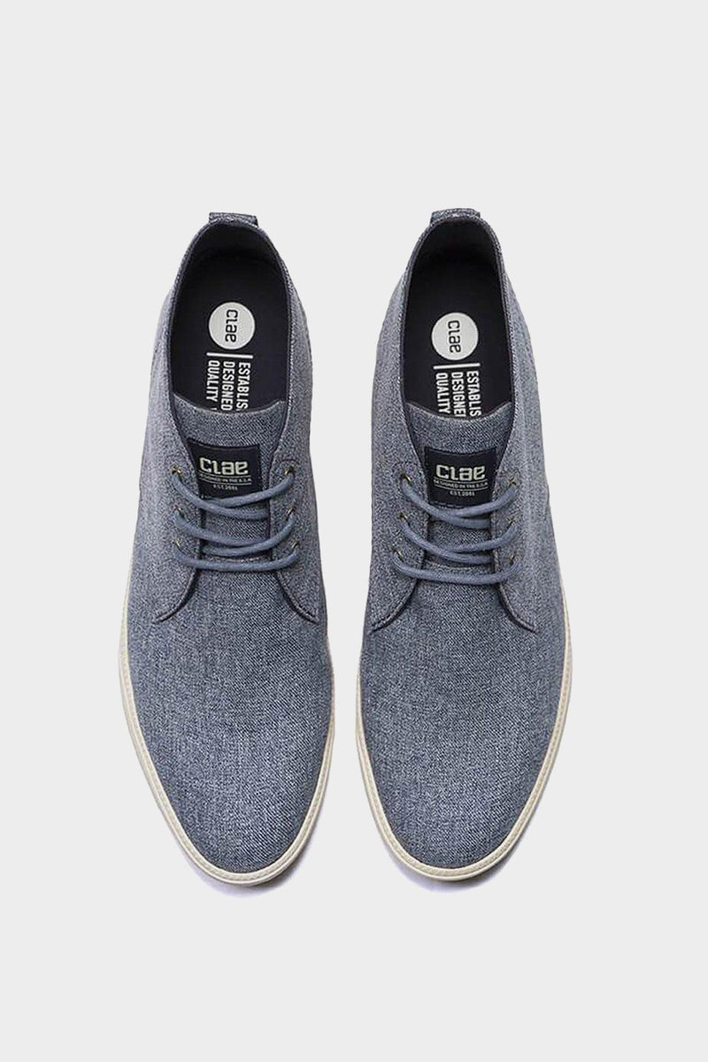 Navy Chambray Canvas Hemp Strayhorn Textile Shoes