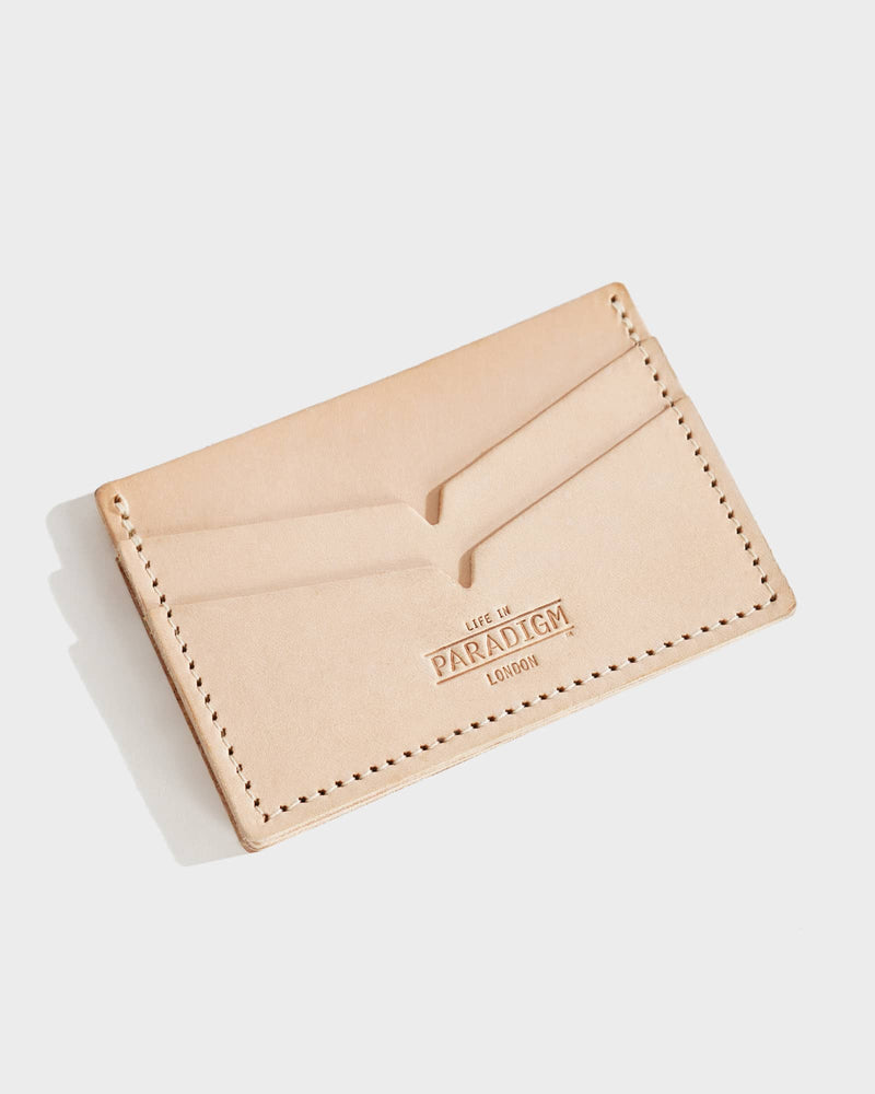 Brooke Natural Leather Double-side Card Holder - Life in Paradigm Menswear London