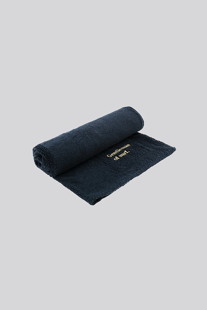 Navy Gentleman of Surf / Beach Towel - Edmmond Studios