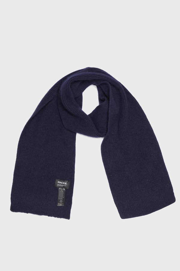 Navy Scottish Wool Scarf - Life in Paradigm Menswear London