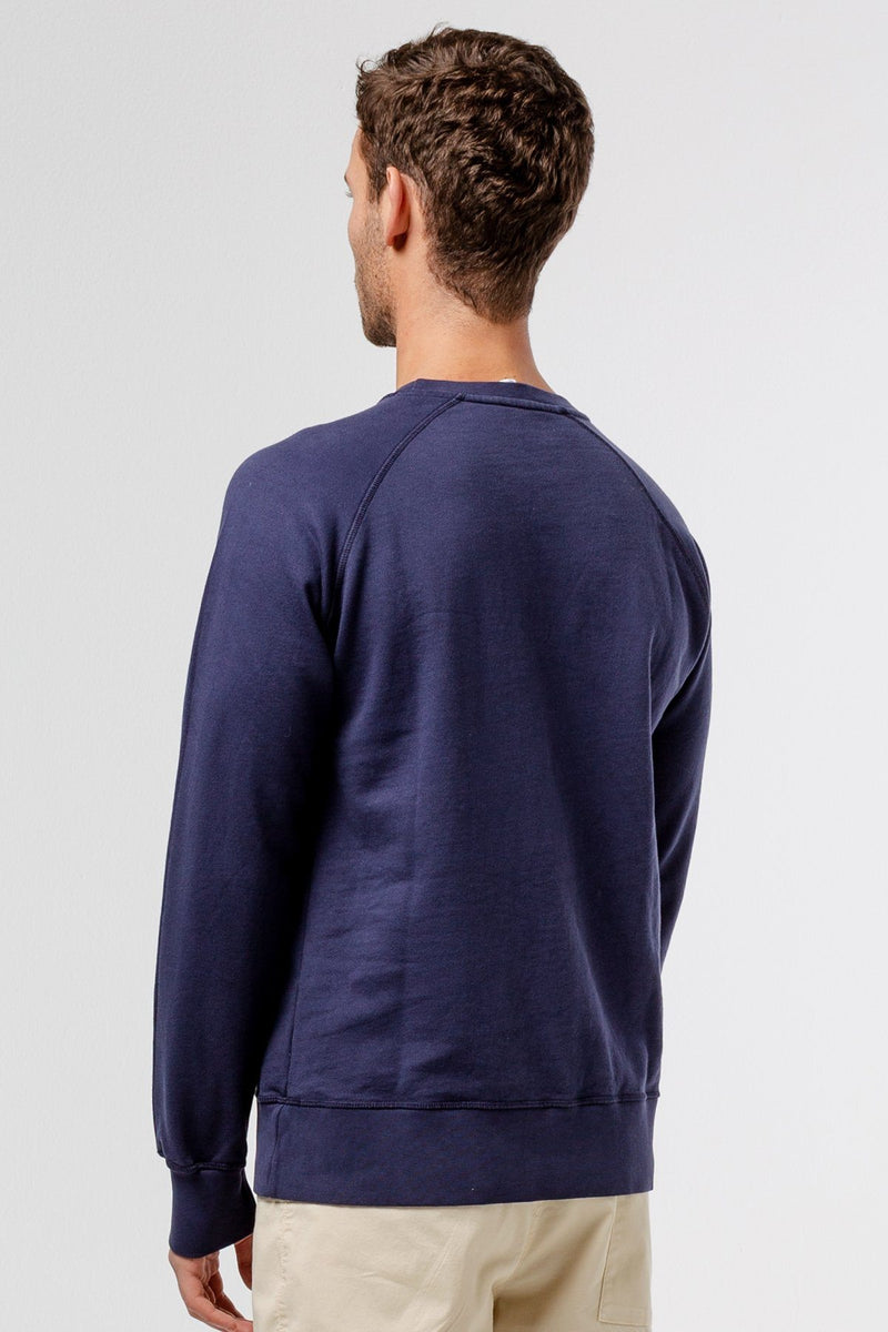 Navy beach Sweatshirt - Life in Paradigm Menswear London