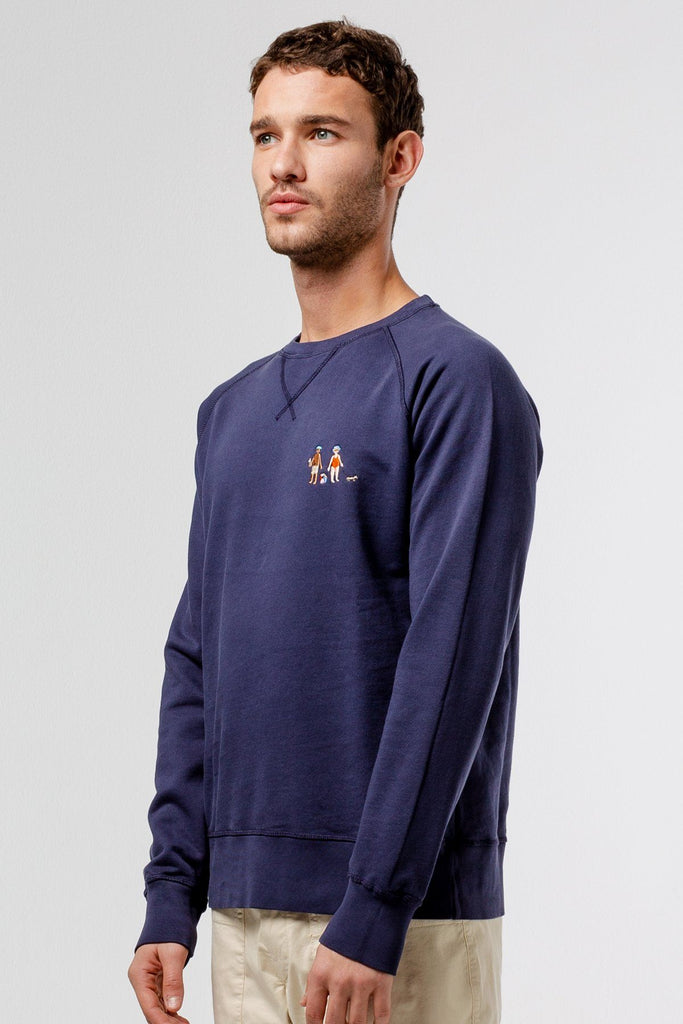 Navy beach Sweatshirt - Life in Paradigm