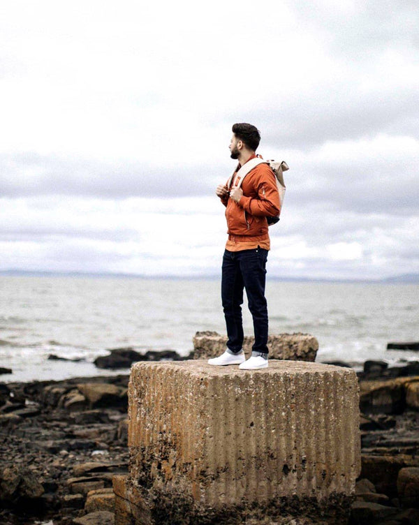 Orange Bomber Jacket - Life in Paradigm Menswear London