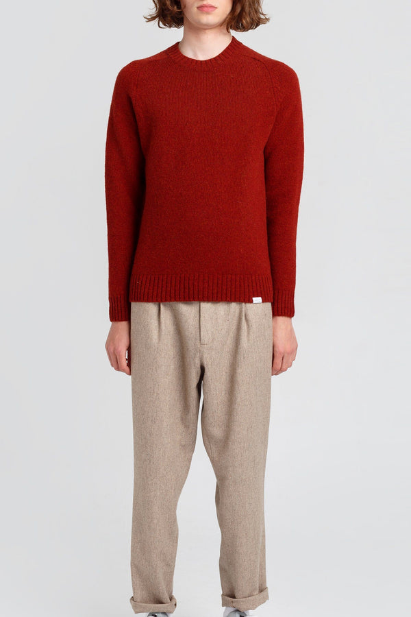 Red Wool Knitted Jumper - Edmmond Studios
