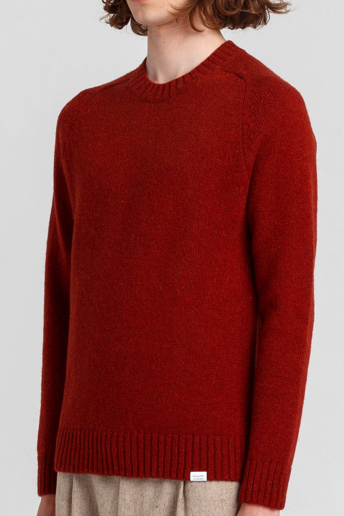 Red Wool Knitted Jumper - Life in Paradigm
