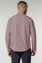Red & White Checkered Gingham Long Sleeve Shirt - Life in Paradigm Menswear London