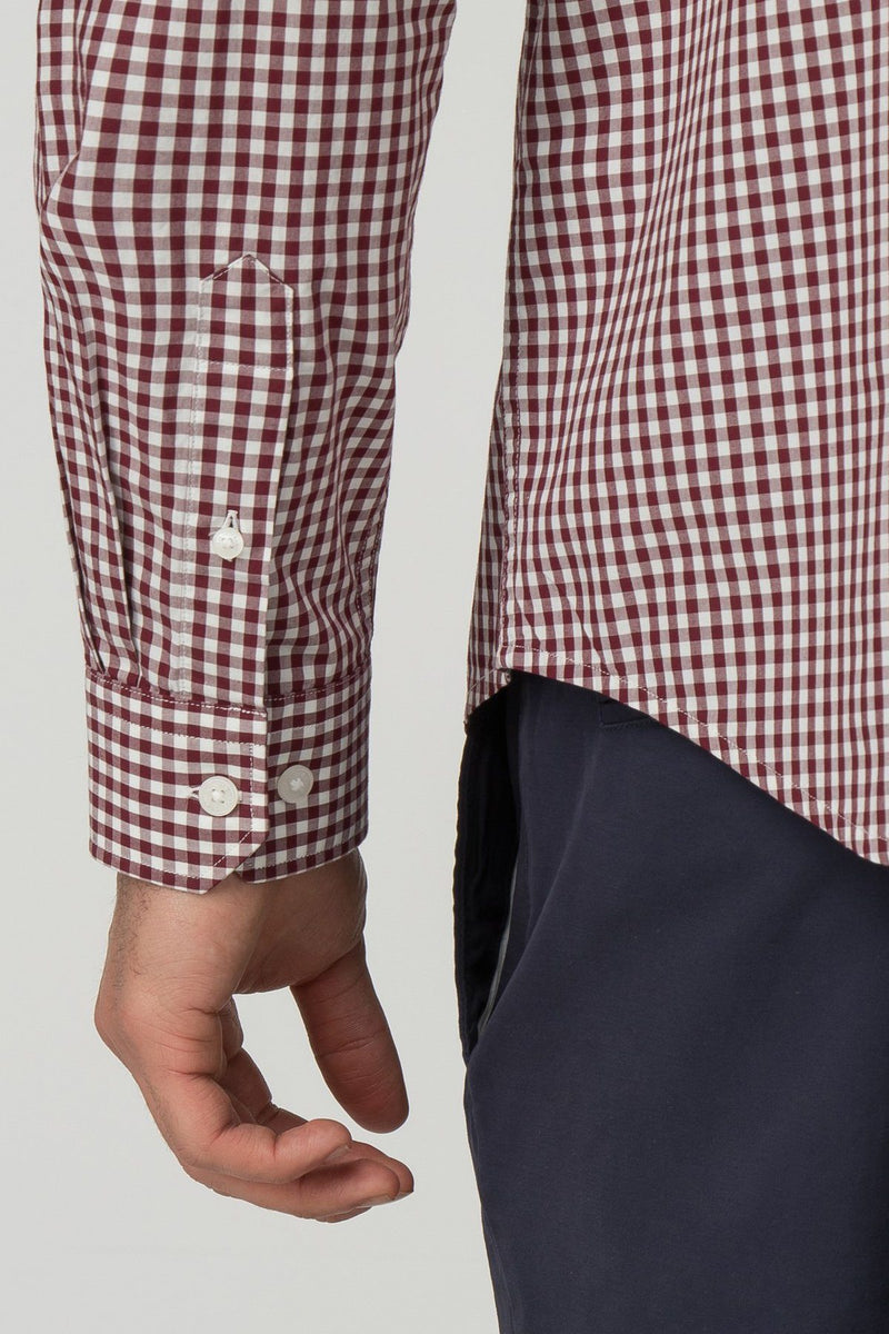 Red & White Checkered Gingham Long Sleeve Shirt - Ben Sherman