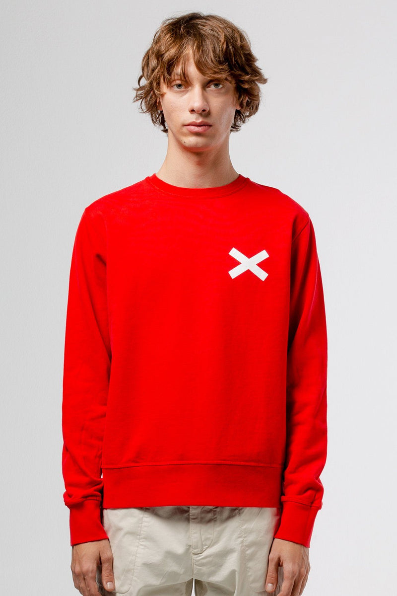 Red Cross Sweatshirt - Life in Paradigm Menswear London