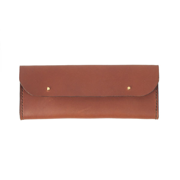 Tan Leather Pencil Case - Life in Paradigm Menswear London
