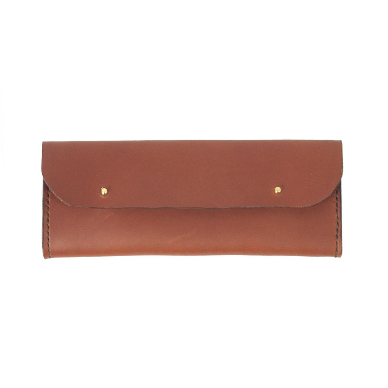 Tan Leather Sunglasses Case - Kaykgoods