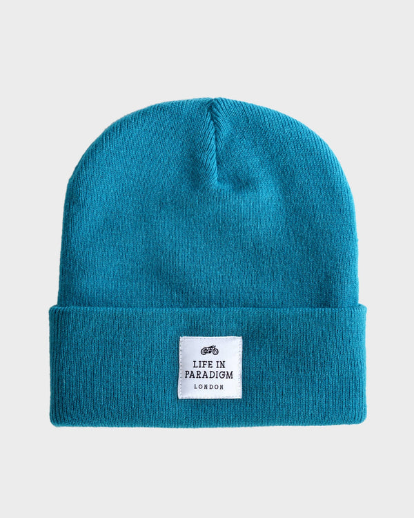Teal Islington Beanie - Life in Paradigm Menswear London