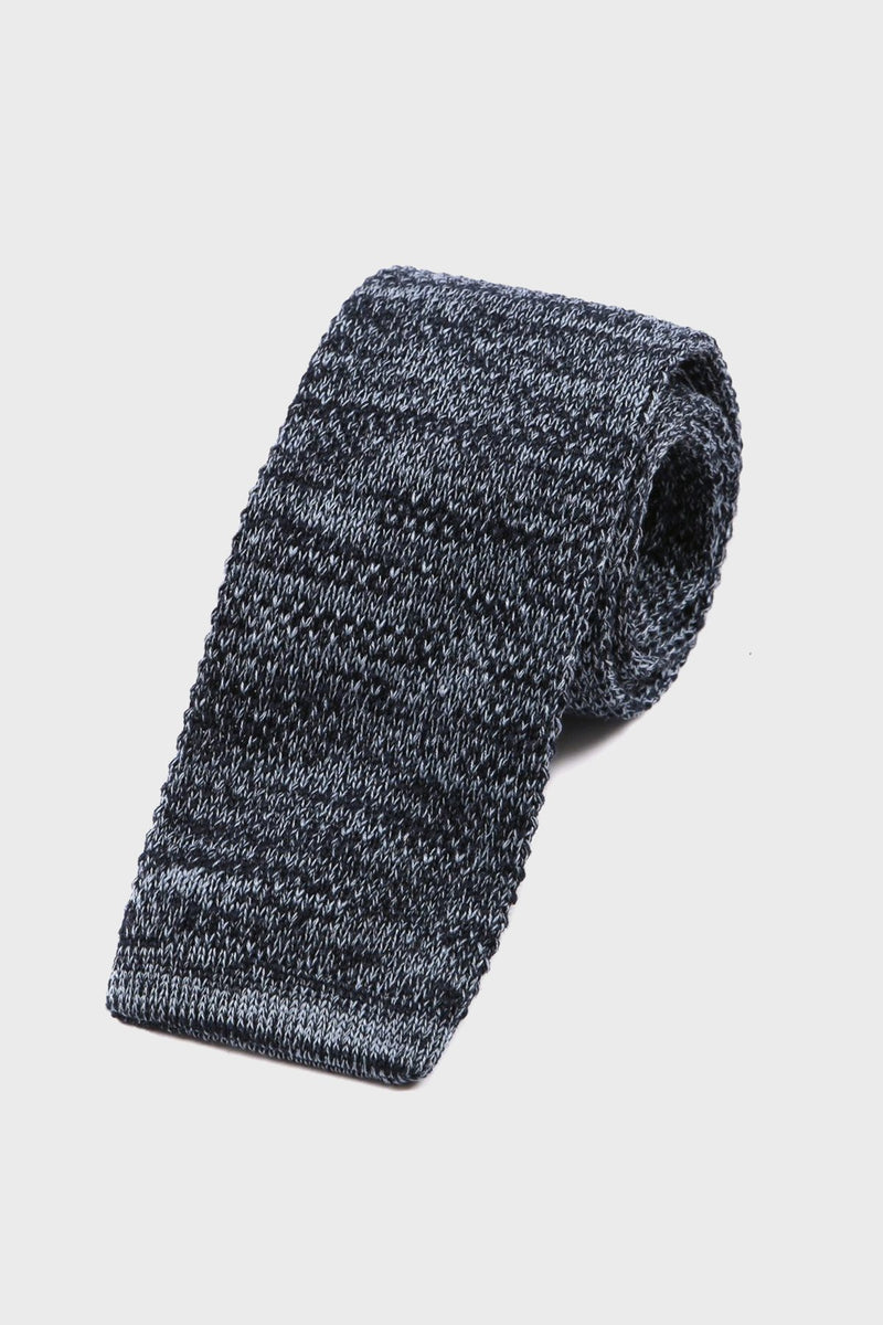 Washed Navy Denim-Styled Knitted Tie - Tie Doctor