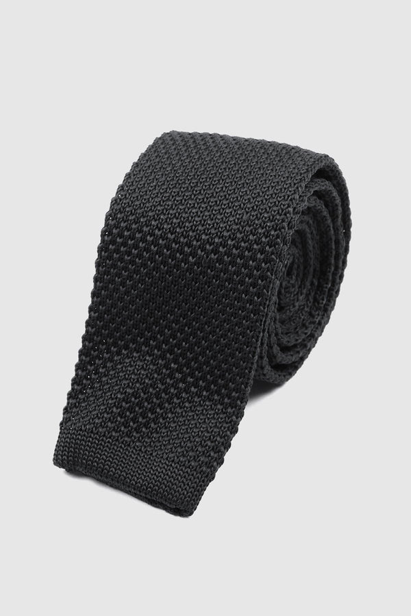 Black Knitted tie - Life in Paradigm Menswear London