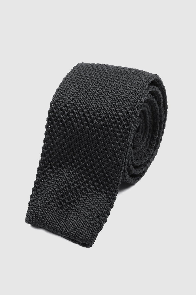 Black Knitted tie - Tie Doctor