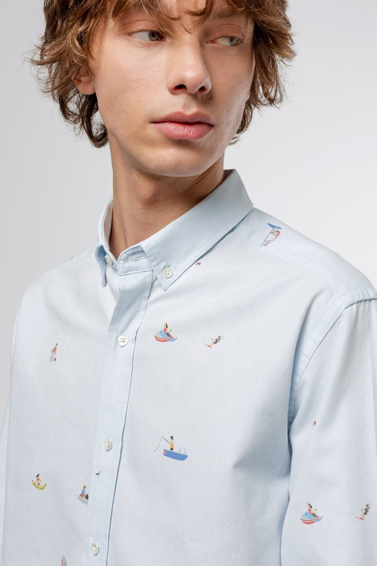 Sky Blue Oxford Beach holiday Shirt - Life in Paradigm Menswear London