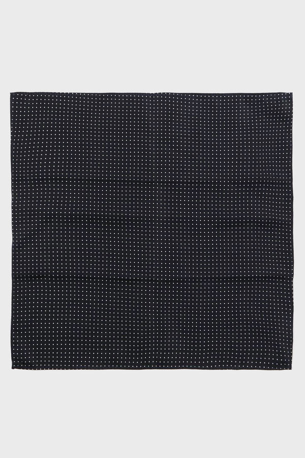 Navy Polka Dot Silk Pocket Square - Life in Paradigm Menswear London